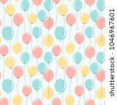 colorful balloons seamless...   Shutterstock . vector #1046967601