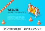 website under construction page ... | Shutterstock .eps vector #1046969734