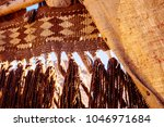 traditional jute decoration at... | Shutterstock . vector #1046971684