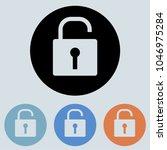 unlock  round icon  glyph icon...