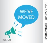 we've moved icon vector  ... | Shutterstock .eps vector #1046977744