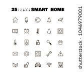 black and white vector icons... | Shutterstock .eps vector #1046979001