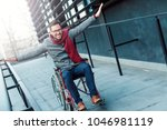 young happy man in the...   Shutterstock . vector #1046981119