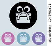 gift round icon  glyph icon for ...