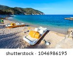 summer adriatic sea beach...   Shutterstock . vector #1046986195