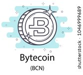 white bytecoin cryptocurrency... | Shutterstock .eps vector #1046999689