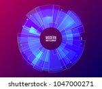futuristic hud element. circle... | Shutterstock .eps vector #1047000271