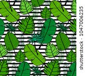 tropical pattern background....   Shutterstock .eps vector #1047006235