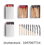 set of match boxes and... | Shutterstock . vector #1047007714