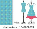 fashion art collection  vector... | Shutterstock .eps vector #1047008374