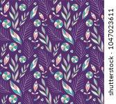 seamless pattern with cartoon... | Shutterstock .eps vector #1047023611