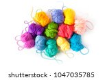 color yarn for knitting ... | Shutterstock . vector #1047035785