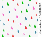 repeated colorful rain drops.... | Shutterstock .eps vector #1047040207