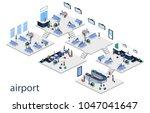 isometric 3d vector... | Shutterstock .eps vector #1047041647