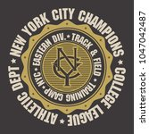 new york city sport wear... | Shutterstock .eps vector #1047042487