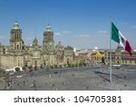 the zocalo in mexico city  with ... | Shutterstock . vector #104705381