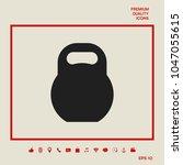 kettlebell icon symbol | Shutterstock .eps vector #1047055615