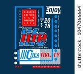 enjoy live typography tee shirt ... | Shutterstock .eps vector #1047066664