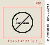 no smoking  smoking ban icon....   Shutterstock .eps vector #1047066955