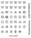 laundry symbols icon set | Shutterstock .eps vector #1047070051