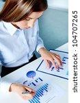 vertical image of businesswoman ... | Shutterstock . vector #104707265