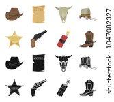 star sheriff  colt  dynamite ...   Shutterstock .eps vector #1047082327