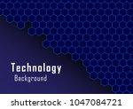 hexagonal solids with circuit... | Shutterstock .eps vector #1047084721
