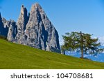 seiser alm  particularly the... | Shutterstock . vector #104708681