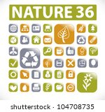 nature buttons  icons set ... | Shutterstock .eps vector #104708735