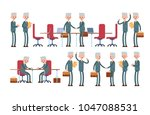 conclusion of the transaction ... | Shutterstock .eps vector #1047088531