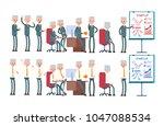 coworking  startup  joyful... | Shutterstock .eps vector #1047088534