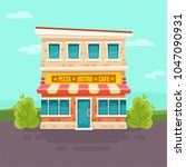 vector illustration of cafe... | Shutterstock .eps vector #1047090931