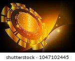 bitcoin digital currency... | Shutterstock .eps vector #1047102445