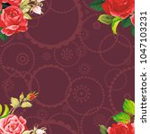 seamless floral pattern rose... | Shutterstock .eps vector #1047103231