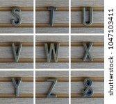 Bronz Alphabet Letter On Wooden ...