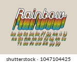vector of rainbow colored... | Shutterstock .eps vector #1047104425