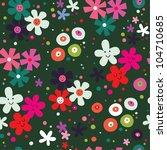 flowers pattern - stock vector