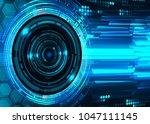 binary circuit board future... | Shutterstock .eps vector #1047111145
