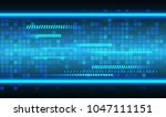 binary circuit board future... | Shutterstock .eps vector #1047111151