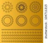 islamic religious pattern set.... | Shutterstock .eps vector #104711315