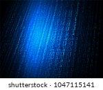 binary circuit board future... | Shutterstock .eps vector #1047115141