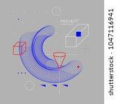trendy abstract art geometric... | Shutterstock .eps vector #1047116941