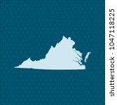 map of virginia | Shutterstock .eps vector #1047118225