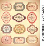 Stock vector vintage labels 104712014