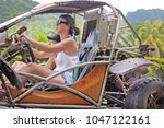 rarotonga   dec 16 2017 woman...   Shutterstock . vector #1047122161