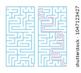 rectangular color labyrinth... | Shutterstock .eps vector #1047123427
