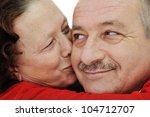 closeup image of elderly woman... | Shutterstock . vector #104712707