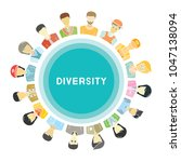 group of people for diversity... | Shutterstock .eps vector #1047138094