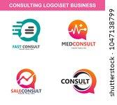 consulting data logo vector | Shutterstock .eps vector #1047138799