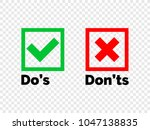 do and dont check tick mark and ... | Shutterstock .eps vector #1047138835